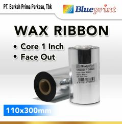 Ribbon Wax Barcode Label 110x300m BLUEPRINT Thermal Transfer Ribbon