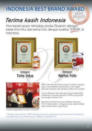 Knowledge Tinta Indonesia Best Brand Award