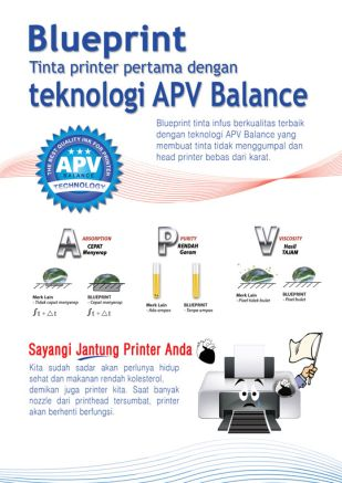 Knowledge Tinta Blueprint Tinta Printer Pertama dengan Teknologi APV Balance
