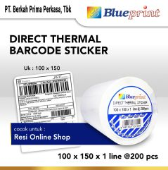 Direct Thermal Sticker Label Online Shop BLUEPRINT 100x150mm 200Pcs