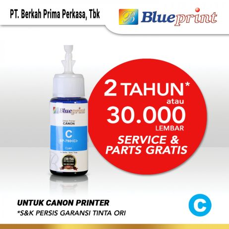 Tinta Tinta Canon BLUEPRINT Refill For Printer Canon 70ml Cyan  Biru canon cyan 790 70ml membership