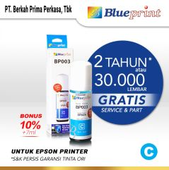 Tinta Epson 003 BLUEPRINT For Printer Epson 72ml Cyan  Biru