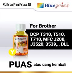 Tinta Brother BLUEPRINT Refill For Printer Brother 100ml  Kuning