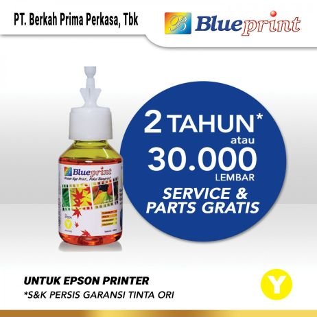Tinta Tinta Epson BLUEPRINT Refill For Printer Epson 100ml  Yellow CP tinta epson 644 100 ml  yellow