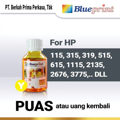 Tinta Tinta HP BLUEPRINT Refill For Printer HP 100ml  Kuning tinta hp 100 ml  yellow